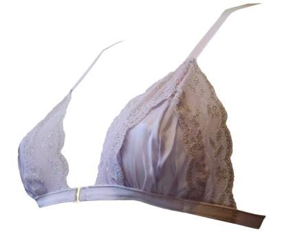 Parma Violet Silk Bra Side